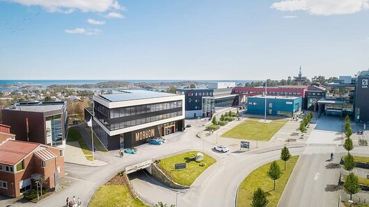 The innovation centre to be built at UiA Campus Grimstad. (Illustration: ENO Arkitekter/Morrow Batteries)